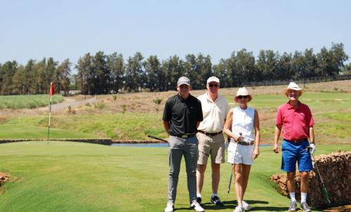 Jan Louis and his group at Leopard Creek